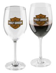Harley-Davidson Core Bar & Shield Logo Wine Glass Set - 19 oz. HDX-98708 - Wisconsin Harley-Davidson