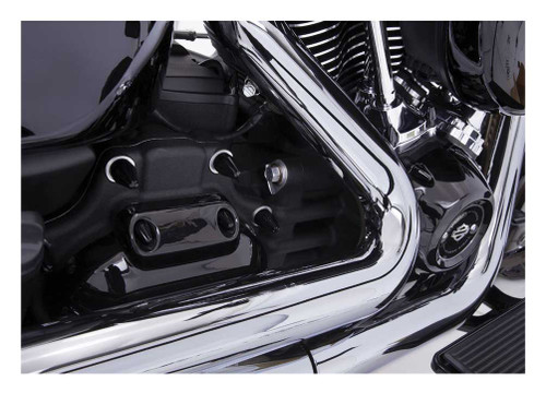 Ciro Fluted Spike Bolt Cap Set for Twin Cam (53pk) - Painted Black 70026 - Wisconsin Harley-Davidson