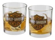 Harley-Davidson Core Bar & Shield Double Old Fashioned Set - 10 oz. HDX-98707 - Wisconsin Harley-Davidson