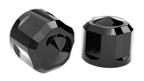 Ciro Diamond Cut Crown Bolt Cap Set for Twin Cam (53pk) - Painted Black 70025 - Wisconsin Harley-Davidson