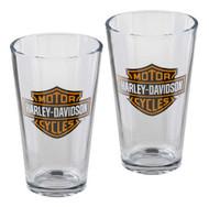Harley-Davidson Core Bar & Shield Logo Pint Glass Set - 16 oz. HDX-98706 - Wisconsin Harley-Davidson