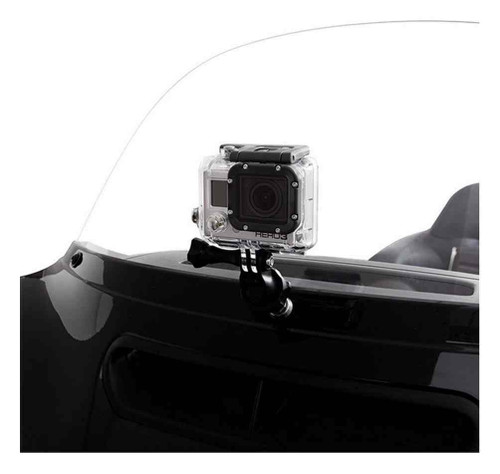 Ciro Action Camera Adapter w/ Stud Mount, Fits 1/4 in. Hole - Black 50127 - Wisconsin Harley-Davidson