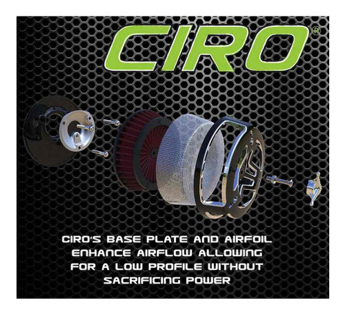 Ciro Tri-Bar Air Cleaner, Fits 08-16 H-D Touring Models - Chrome or Black - Wisconsin Harley-Davidson