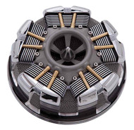 Ciro Radial Air Cleaner, Fits 08-16 H-D Touring Models - Chrome or Black - Wisconsin Harley-Davidson