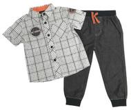 Harley-Davidson Little Boys' Plaid Shirt & Black Denim Pant 2-Piece Set 2071809 - Wisconsin Harley-Davidson
