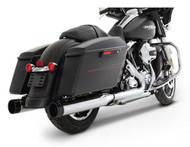 Rinehart Slip-On Mufflers, Chrome w/Black Tip - Fits H-D Touring Models 500-0102 - Wisconsin Harley-Davidson