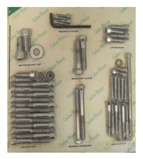Gardner & Westcott Complete Motor Allen Head Screw Set, Harley-Davidson C-20-93 - Wisconsin Harley-Davidson
