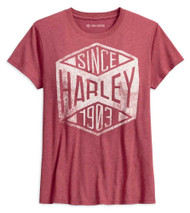 Harley-Davidson Women's Since 1903 Short Sleeve Tee, Heather Red 99087-18VW - Wisconsin Harley-Davidson