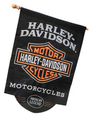 Harley-Davidson American Legend Sculpted Applique House Flag, 28 x 44 in 154900 - Wisconsin Harley-Davidson