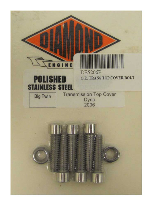 Diamond Engineering Polished Stainless Steel Transmission Top Cover Set DE5206P - Wisconsin Harley-Davidson