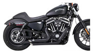Vance & Hines Short Shots Pipe, Fits H-D XL Models - Black Finish 1800-1633 - Wisconsin Harley-Davidson
