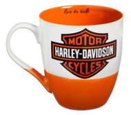 Harley-Davidson Two Ceramic Cups O'Java Gift Set, 18 oz. Black & Orange 3MCF4900 - Wisconsin Harley-Davidson