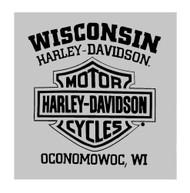 Harley-Davidson Men's Old Days Distressed Short Sleeve T-Shirt - Heather Gray - Wisconsin Harley-Davidson