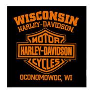 Harley-Davidson Men's Profile Skulls Short Sleeve Crew-Neck T-Shirt - Black - Wisconsin Harley-Davidson