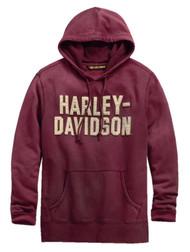 Harley-Davidson Men's Felt Lettering Slim Fit Pullover Hoodie, Red 99180-19VM - Wisconsin Harley-Davidson