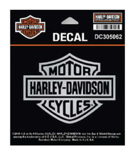 Harley-Davidson Brushed Silver Plastic Bar & Shield Logo Decal, Die-Cut DC302062 - Wisconsin Harley-Davidson