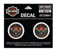 Harley-Davidson Velocity Eagle Gel Dome Decals, XS Size - 1.5 x 1.5 in DC326641 - Wisconsin Harley-Davidson