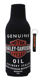 Harley-Davidson Genuine Oil Neoprene Zippered Bottle Wrap w/ Opener BZ21230 - Wisconsin Harley-Davidson