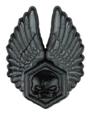 Harley-Davidson 3D Die Cast Forged Wings Pin - Black Dye Plated Nickel P325302 - Wisconsin Harley-Davidson