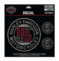 Harley-Davidson Forged Circle Decals, 4 Per Sheet - 4.5 x 4.5 in. DC324822 - Wisconsin Harley-Davidson