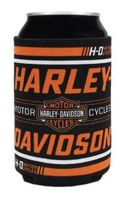 Harley-Davidson Traction H-D Neoprene Can Flat Wrap, Black & Orange CF31530 - Wisconsin Harley-Davidson