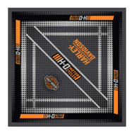 Harley-Davidson Men's Traction Bandana - Gray & Orange, 24 x 24 inch BA31554 - Wisconsin Harley-Davidson