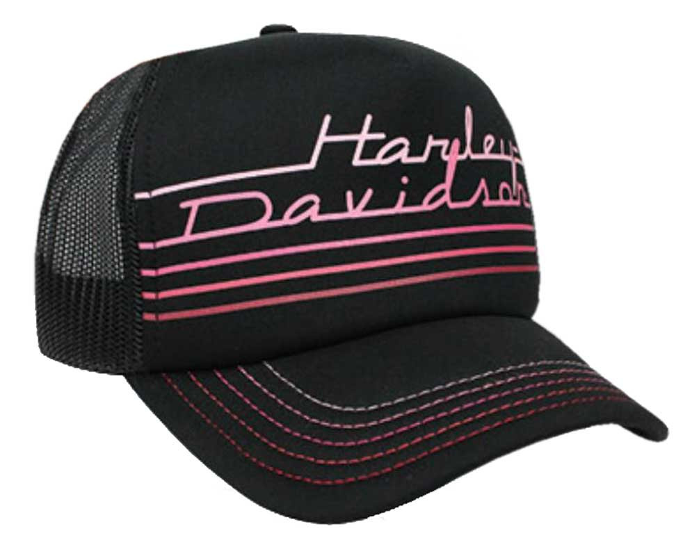 Harley-Davidson® Women s Throwback Mesh Snap Back Trucker Cap bc08198b7d75