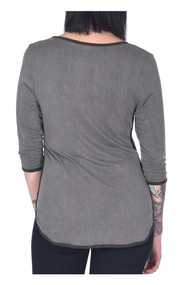 bd4d3aea852727 Harley-Davidson Women s Fly Free Embellished 3 4 Sleeve Scoop Neck Top