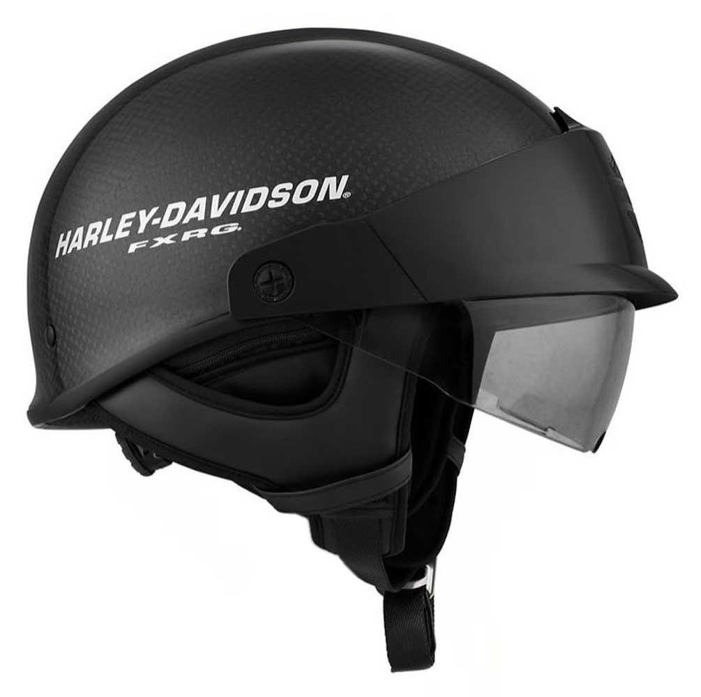 Carbon Fiber Motorcycle Helmets >> Harley Davidson Men S Fxrg J07 Carbon Fiber Half Helmet Gloss Black 98254 19vx