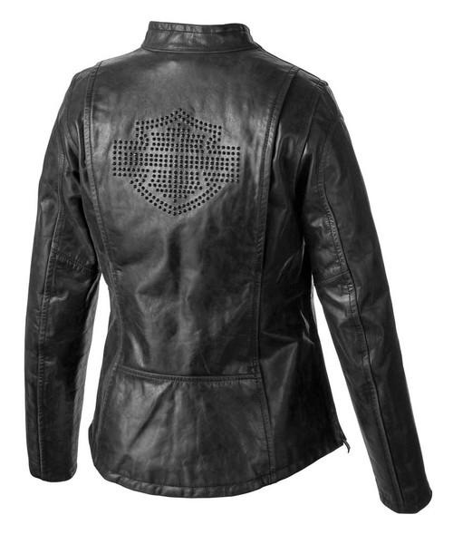 Harley-Davidson Women's Tenacity Genuine Leather Riding Jacket Black 98049-19VW - Wisconsin Harley-Davidson