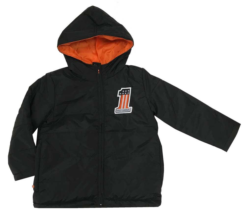 85ee51a9 Harley-Davidson® Little Boys' Packable Puffer Toddler Jacket, Black 6073867  - Wisconsin Harley-Davidson
