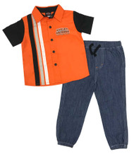 Harley-Davidson Little Boys' Shop Shirt & Denim Pant 2-Piece Toddler Set 2073809 - Wisconsin Harley-Davidson