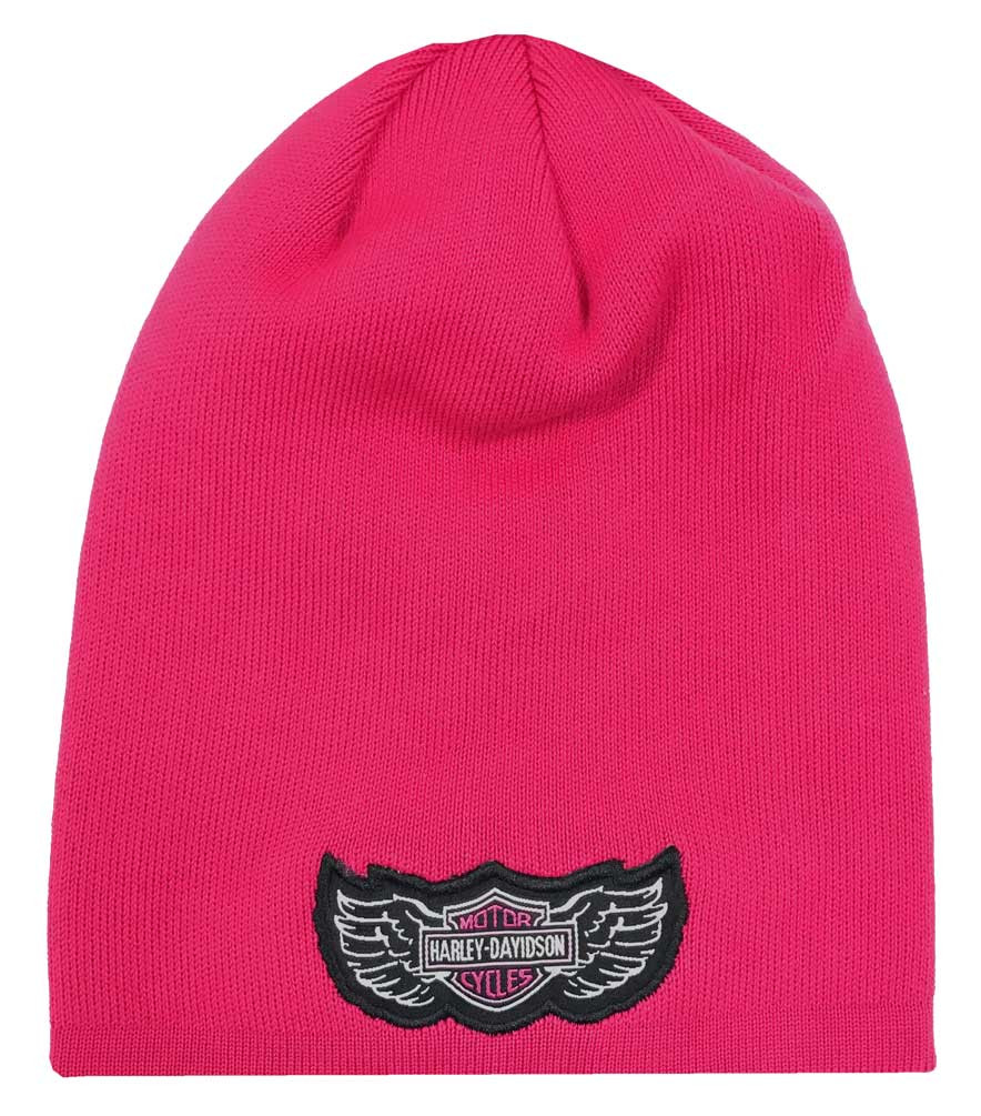 e59395fb31c Harley-Davidson® Little Girls  B S Logo Slouchy Knit Beanie Hat ...