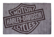 Harley-Davidson Bar & Shield Large Area Rug - Deep Gray Acrylic HDL-19502 - Wisconsin Harley-Davidson