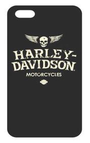 Harley-Davidson Distressed Wings iPhone 8/7 Flexible Phone Shell, Black 7902 - Wisconsin Harley-Davidson