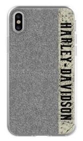 Harley-Davidson Glitter H-D Script iPhone X Flexible Phone Shell, Black 7918 - Wisconsin Harley-Davidson