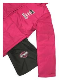 Harley-Davidson Little Girls' Packable Pocket Puffer Jacket, Pink 6033759 - Wisconsin Harley-Davidson