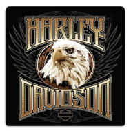 Harley-Davidson Eagle Stare Embossed Tin Sign, 14.5 x 14.5 inches 2011891 - Wisconsin Harley-Davidson