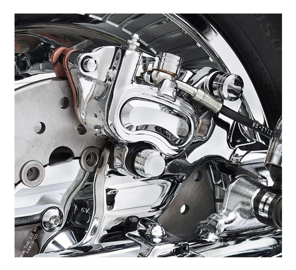 Harley-Davidson® Rear Brake Caliper Bracket, Fits Dyna Models - Chrome  42002-08