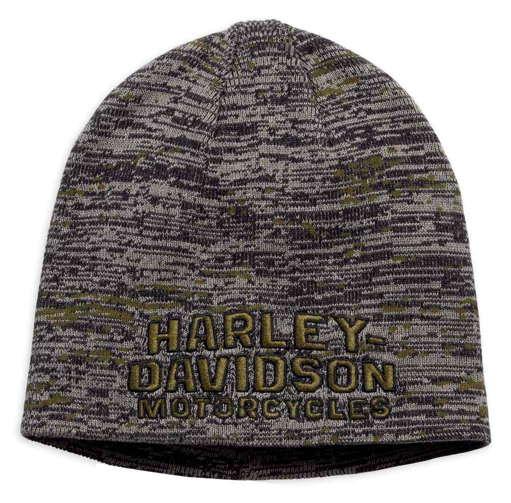 8dbaa24af3b Harley-Davidson® Men s Embroidered Marled Knit Beanie Hat