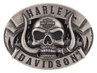 Harley-Davidson Men's The Beast Belt Buckle, Antique Nickle Finish HDMBU11499 - Wisconsin Harley-Davidson