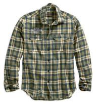 Harley-Davidson Men's Embroidered Plaid Long Sleeve Slim Fit Shirt 96512-19VM - Wisconsin Harley-Davidson