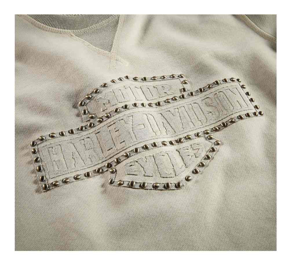d16769c87 Harley-Davidson Women's Studded Logo Pullover Sweatshirt, Off-White  96322-19VW -. See 2 more pictures
