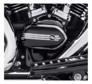 Harley-Davidson Defiance Cam Cover, Black Anodized Machine Cut 25700602 - Wisconsin Harley-Davidson