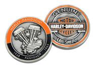 Harley-Davidson Panhead Bar & Shield Challenge Coin, 1.75 in Coin 8008758 - Wisconsin Harley-Davidson
