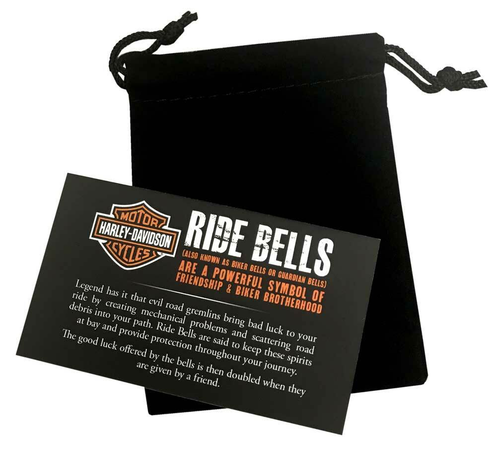 Harley-Davidson® Bar & Shield Ride Bell, Matte Black w/ Blue Stripe HRB096