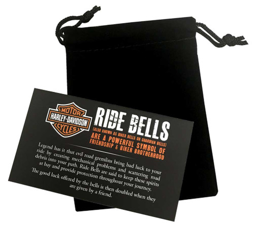 Harley-Davidson Bar & Shield Ride Bell, Matte Black w/ Blue Stripe HRB096 - Wisconsin Harley-Davidson