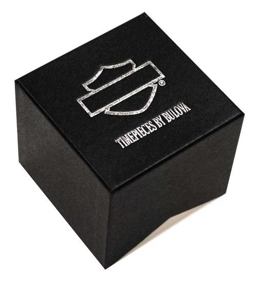 Harley-Davidson Women's 4 Diamonds Half Bangle Bracelet Watch - Silver 76P102 - Wisconsin Harley-Davidson