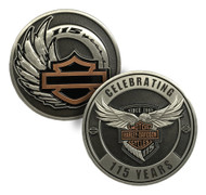 Harley-Davidson Celebrating 115th Year Anniversary Challenge Coin,1.75in 8008390 - Wisconsin Harley-Davidson