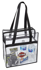 Harley-Davidson Clear Security Tote Bag, 12 x 6 x 12 inches 99661-CLEAR - Wisconsin Harley-Davidson